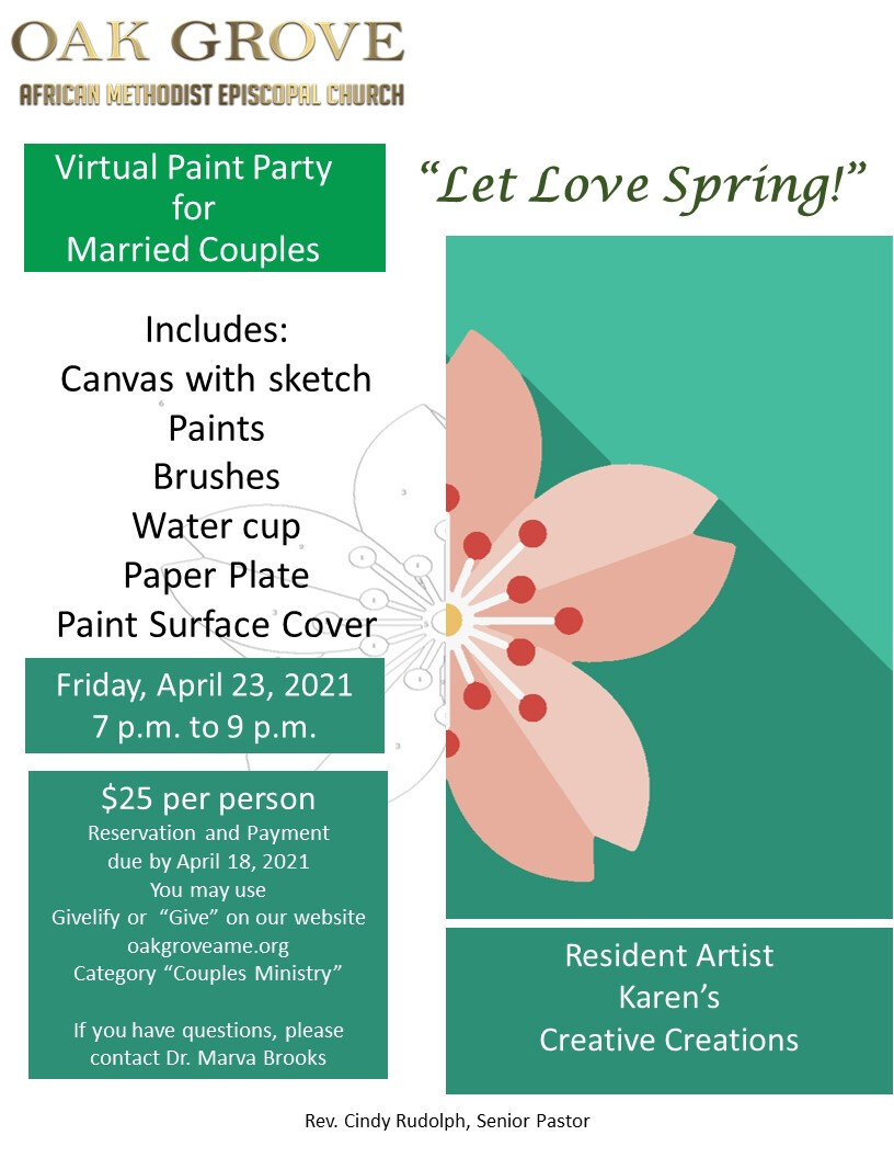 Couples Ministry Invites Married Couples to a Virtual Painting Party